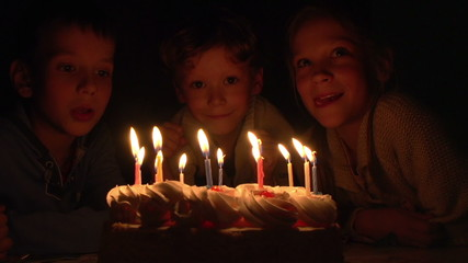 Children and Birthday Cake