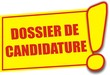 étiquette dossier de candidature
