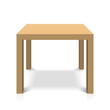 Wooden square coffee table