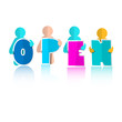 Open Title with Colorful Paper Cut People