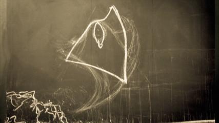 Stop Motion Scribbling on a Chalkboard