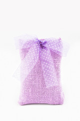 Decorative textile sachet pouch