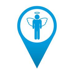 Icono localizacion simbolo angel masculino