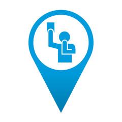 Icono localizacion simbolo arbitro