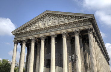 La Madeleine church. Paris, France