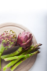 Artichokes and asparagus