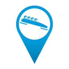 Icono localizacion simbolo bobsleigh