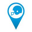 Icono localizacion simbolo casco de futbol americano