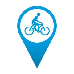 Icono localizacion simbolo ciclista