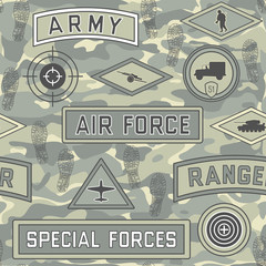 seamless military pattern 08