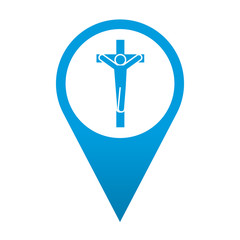 Icono localizacion simbolo crucifijo