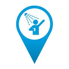 Icono localizacion simbolo ducha