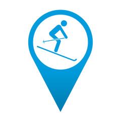 Icono localizacion simbolo esquiador