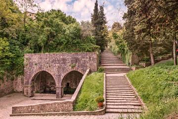 antique Fonte di Docciola in Volterrra, Tuscany, Italy
