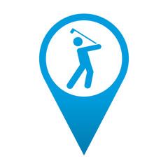 Icono localizacion simbolo golfista