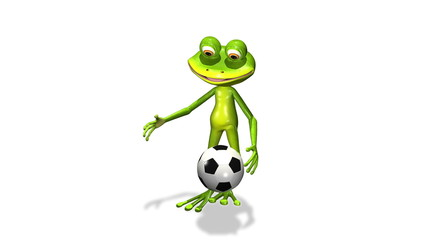 soccer player frog