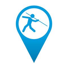Icono localizacion simbolo lanzamiento de jabalina