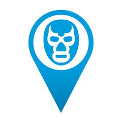 Icono localizacion simbolo mascara de lucha libre
