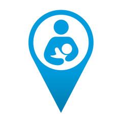 Icono localizacion simbolo maternidad