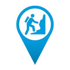 Icono localizacion simbolo montañismo
