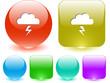Storm. Vector interface element.