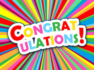 """CONGRATULATIONS!"" Card (well done nice one success achievement)"