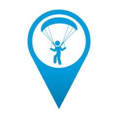 Icono localizacion simbolo parapente
