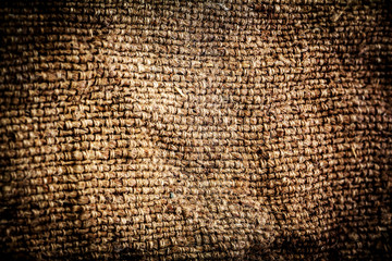 Grunge Background of textile texture. Dark Natural linen rough t