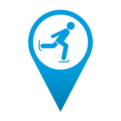 Icono localizacion simbolo patinaje sobre hielo