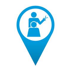 Icono localizacion simbolo peluqueria