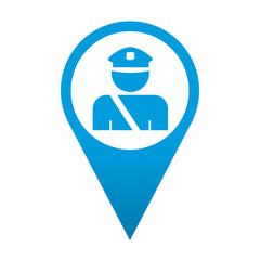 Icono localizacion simbolo policia