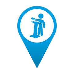 Icono localizacion simbolo politico