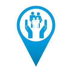 Icono localizacion simbolo servicios sociales