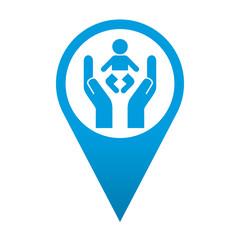 Icono localizacion simbolo proteccion de menores