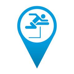 Icono localizacion simbolo salto de vallas
