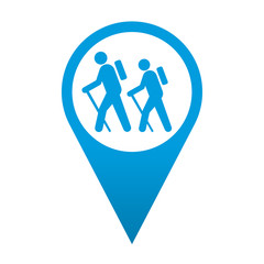 Icono localizacion simbolo senderismo