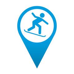 Icono localizacion simbolo snowboard
