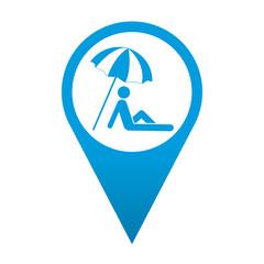 Icono localizacion simbolo sombrilla