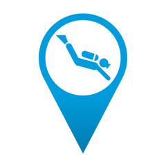 Icono localizacion simbolo submarinista