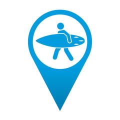 Icono localizacion simbolo surfer