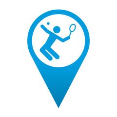 Icono localizacion simbolo tenis