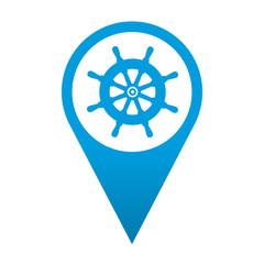 Icono localizacion simbolo timon