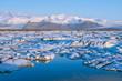Leinwandbild Motiv Jökulsárlón Ice Lagoon at sunrise