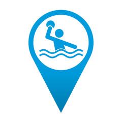 Icono localizacion simbolo waterpolo