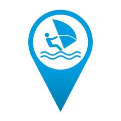 Icono localizacion simbolo windsurf