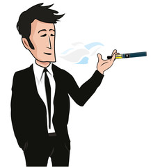 Cigarette électronique e-cigarette vapoteuse cartoon