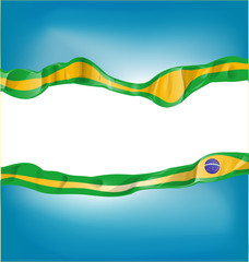 background with brazil flag