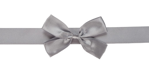 gray ribbon with bow