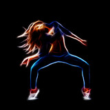 Fototapety Female hip hop dancer