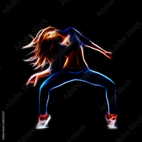 Female hip hop dancer Plakát